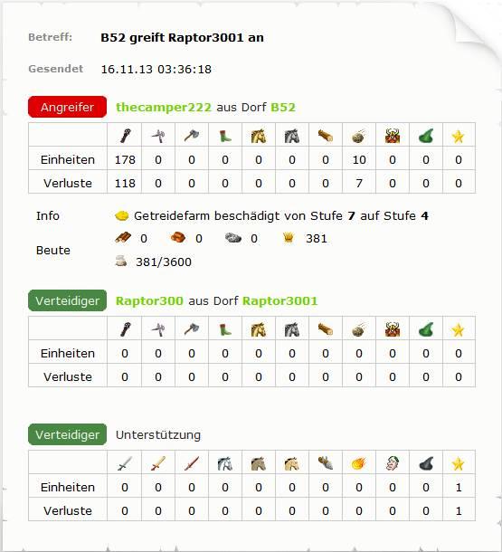 Travian-Wettbewerb-Fantasy-Kampfbericht