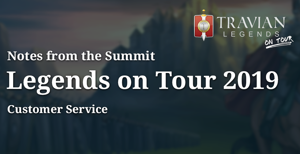 Customer Service ~ Notes from Legends On Tour 2019