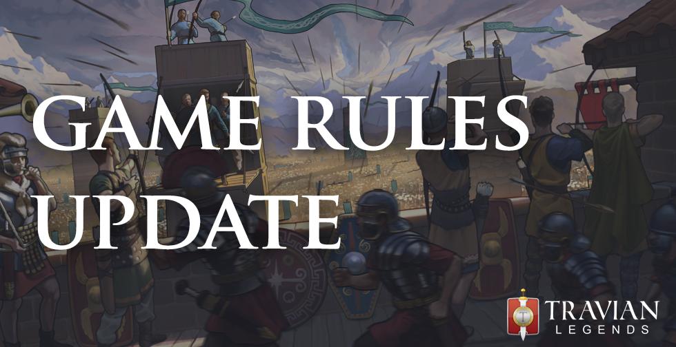 Anuncio de cambio de reglas de juego